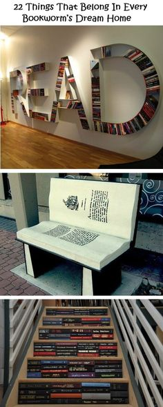22 Things That Belong In Every Bookworms Dream Home. Reminds me of Jessie.