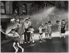 """Summer on the Lower East Side"" by Weegee (Arthur Fellig), gelatin silver print, 31.8 x 41.4 cm (12 1/2 x 16 5/16 in.), 1937"