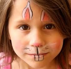 bunny face painting - Google Search