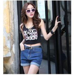 Plus Size Summer Hot Sale Cheap High Waist Jeans Casual Woman Denim Shorts Feminino Female Loose Women Sexy Short Shorts Jeans S