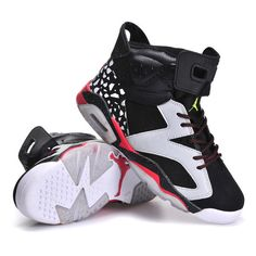 9ebcb85d965668 Women s Air Jordan 6 Speckle Black White Red ( 78) ❤ liked on Polyvore  featuring