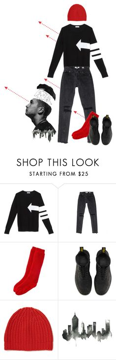 """twenty one pilots - blurryface //"" by yvism ❤ liked on Polyvore featuring Equipment, Dr. Martens, rag & bone, WALL and twentyonepilots"