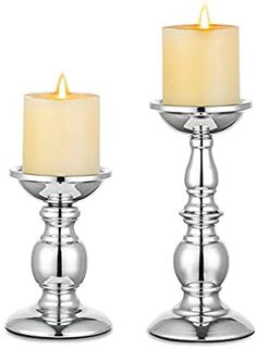 Silver Candle Holders, Kegel, Incense Cones, Candle Stand, Color Plata, Taper Candles, Fake Flowers, Tea Lights, Candlelight Dinner
