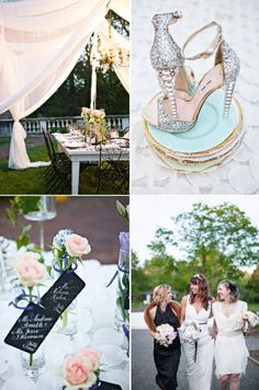 Silver and light pink inspiration from Style Me Pretty