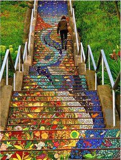 Beautiful San Francisco staircase