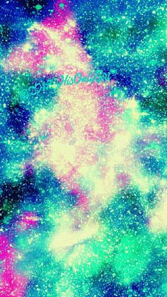 Glitter iPhone/Android galaxy wallpaper I created for the app CocoPPa.