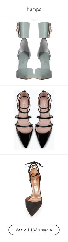 """""""Pumps"""" by luxleovirgo ❤ liked on Polyvore featuring shoes, pumps, heels, women, pointed shoes, spiked heel pumps, zimmermann shoes, spiked heel shoes, pointed heel pumps and flats"""