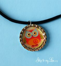 how to make a bottle cap necklace