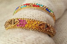 Hey, I found this really awesome Etsy listing at https://www.etsy.com/listing/496921356/multicolor-indian-bangle