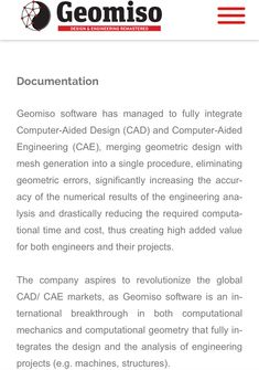 #Geomiso #Software #Documentation  https://www.geomiso.com/support/documentation/