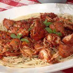 Lindas Spicy Lobster Linguine