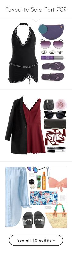 """""""Favourite Sets: Part 70❣"""" by moon-and-starss ❤ liked on Polyvore featuring Roksanda, Aéropostale, Urban Decay, beach, MyStyle, swimsuit, beachstyle, RED Valentino, J. Furmani and Gianvito Rossi"""