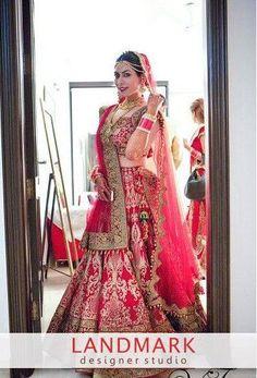#Brideoftheday..!!  #Landmarkdesignerstudio #Panchkula  #Elante #Chandigarh…