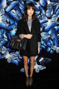 London Fashion Week A/W 2013 Front Row - Alexa Chung At The Mulberry Show