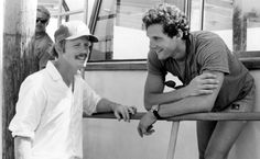COCOON, Director Ron Howard, Steve Guttenberg on set, 1985, TM & Copyright (c) 20th Century Fox Film Corp. All rights reserved.