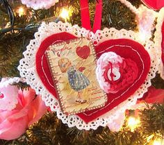 Felt ornaments for Valentines Day