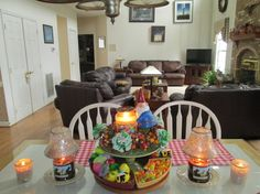 Chocolate Bunnies, Happy Easter, and votives of Summer Scoop