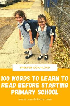 Sight Words for kids starting primary school Sight Words List, Memory Journal, Starting School, High Frequency Words, 100 Words, 1st Year, Wedding Entertainment, Take The First Step, Head Start