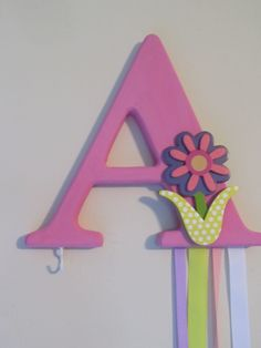 The+letter+A+barrette+holder+with+hook+for+by+Formy2girlsandmore,+$11.00