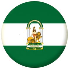 Andalusia Flag 25mm Pin Button Badge.
