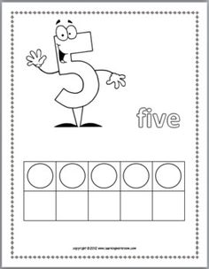 Free Numbers 0 - 10 Coloring Book with Ten-Frames
