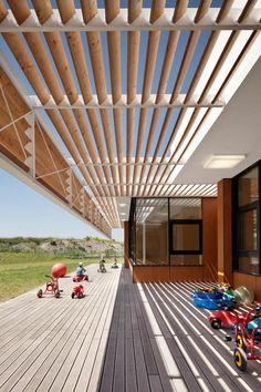 brise soleil, architecture moderne, un brise-soleil original
