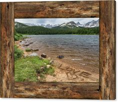 Windows Canvas Print featuring the photograph Colorado Rocky #Mountain #Love Cabin #Window View by James BO Insogna - #insognaGallery -