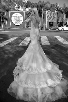 Inbal Dror's Backless Wedding Gown - one of many Seriously HAWT and Unbelievable Backless Wedding Dresses for 2014 on ConfettiDaydreams.com