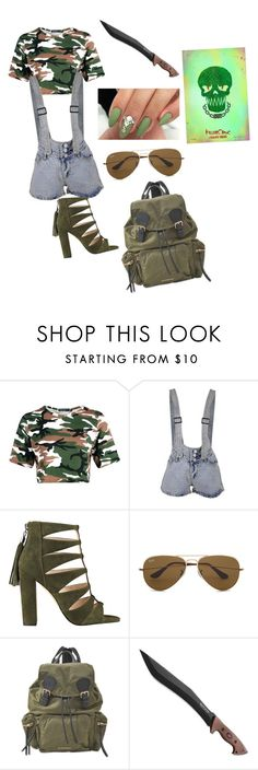 """""""Killer Croc"""" by light-cmx ❤ liked on Polyvore featuring Boohoo, Ray-Ban and Burberry"""