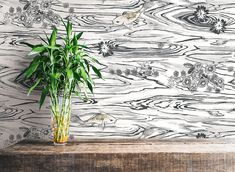 Add an oriental touch to any room with this charcoal wallpaper from the Senzai Wallpaper Collection. Available at Go Wallpaper UK Oriental Wallpaper, Wallpaper Uk, Designer Wallpaper, Wallpaper Designs, Wallpaper Ideas, Charcoal Wallpaper, Pond Design, Color Pallets, Color Schemes