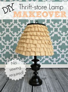 A quick and easy DIY - upcycle an old thrift store lamp into something beautiful with a little spray paint and burlap!