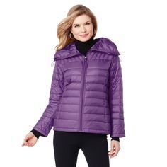 Curations Caravan Chic Packable Down Coat Drawstring Purple Reign S NEW 359-230