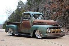 Ford : Other 1951 ford f 1 restomod rat rod 350 ci v 8 auto ps pdb patina ac show f 100 - House Springs, MO - $32,900