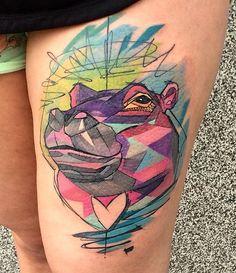 Szabi tattoo hippo tattoo