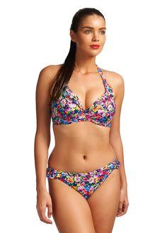 Summer Purple Banded Halter Bikini Top | Freya Swimwear