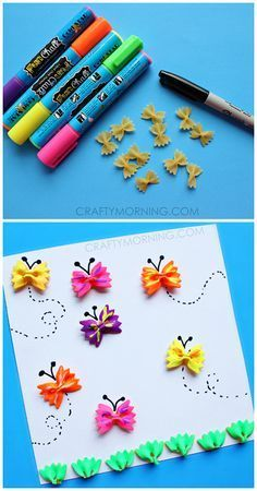 Bow Tie Noodle Butterfly Crafts For Kids - Sly Morning - . - Erzieher - Bow Tie Noodle Butterfly Crafts For Kids – Sly Morning – noodle vlinder ambachten - Spring Activities, Craft Activities For Kids, Preschool Crafts, Craft Ideas, Daycare Crafts, Kids Craft Kits, Art Projects For Toddlers, Kids Craft Projects, Summer Art Projects