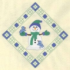 Snowman Diamond 2   What's New   Machine Embroidery Designs   SWAKembroidery.com Starbird Stock Designs