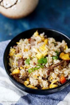 Beef fried rice @elaineseafish