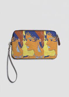 Leather Statement Clutch - Girl Of 90 - Clutch by VIDA Original Artist Vida Design, Evening Bags, Original Artwork, Women's Rights, Contemporary, The Originals, My Style, Leather, Closure