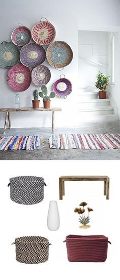 baskets as gallery wall