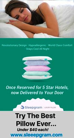 Sleep and feel like a teenager again with the most inexpensive luxury pillow on the market...