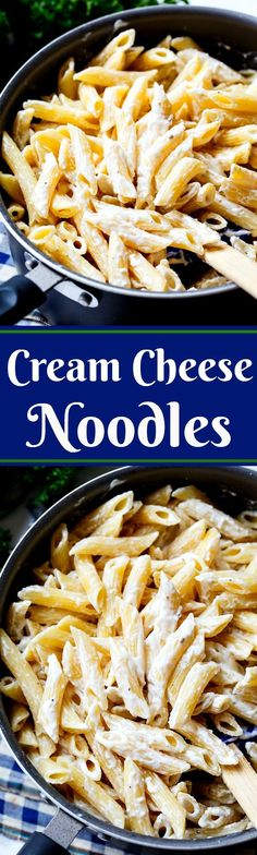 Cream Cheese Noodles make a great side dish for chicken, beef, or pork.