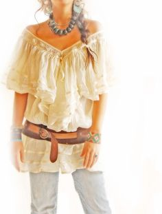 Angel hippie chic Bohemian tunic from Mexico by AidaCoronado, $98.00