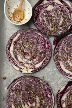 Za'atar Red Cabbage Steaks. Got to be worth a try. Fancy some blue cheese with your steak?