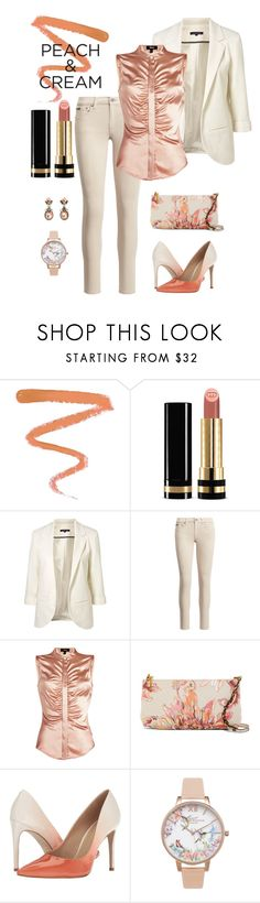 """She's a Peach: Peach Lipstick"" by miriam-witte ❤ liked on Polyvore featuring beauty, Ellis Faas, Gucci, WithChic, Theory, Elliott Lucca, Massimo Matteo and Olivia Burton"