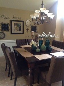Brown And Turquoise Dining Room. Home Decor Done By The Verdigris Saint