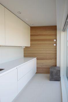 Kodinhoitohuone, valkoinen, puu, selkeä, kaunis, yksinkertainen, pelkistetty,