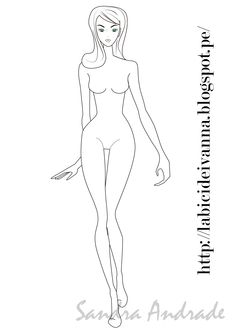 #figurin de #moda #ilustración #sketch Fashion Design Template, Fashion Templates, Figure Sketching, Figure Drawing, Fashion Illustration Template, Body Sketches, Fashion Figures, Afro, Body Drawing