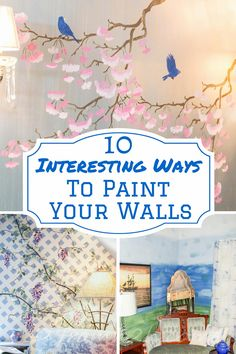 10 Interesting Ways To Paint Your Walls | Looking for some ways to add interest to your room? Check out these paint treatments...#4 is my favorite!