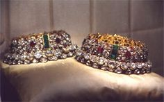 Emerald, Ruby and Diamond Studded Anklet of Nizam Of Hyderabad